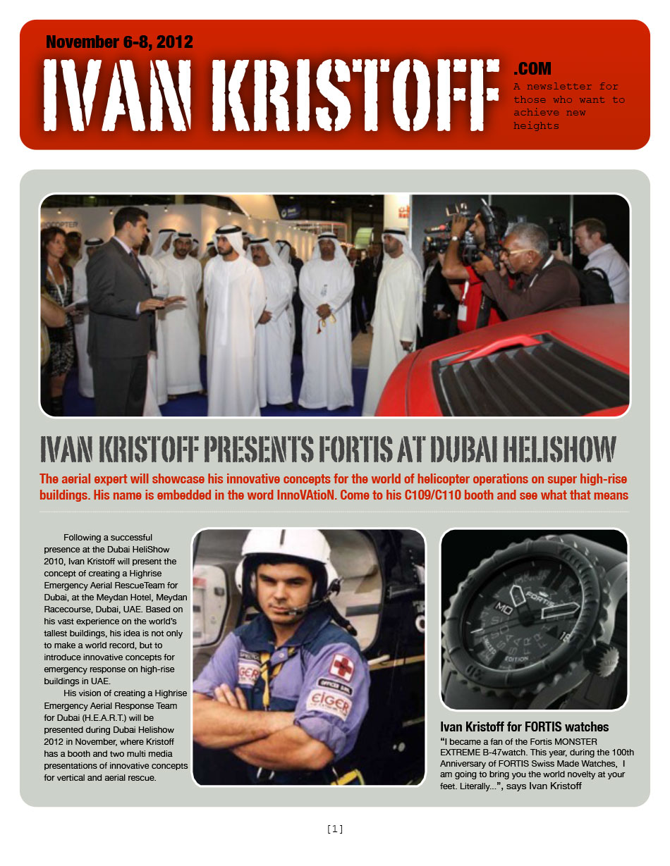 IVAN KRISTOFF PRESENTS FORTIS AT DUBAI HELISHOW